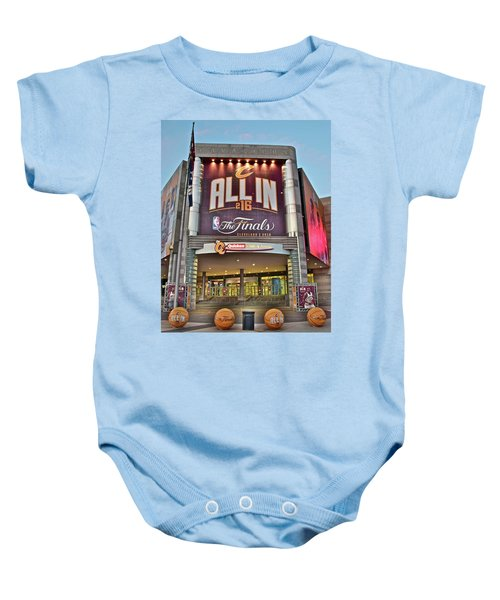 World Champion Cleveland Cavaliers Baby Onesie by Frozen in Time Fine Art Photography