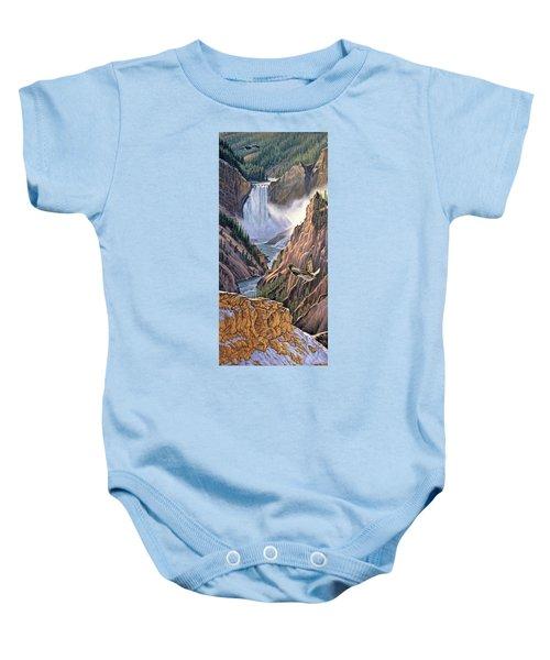 Yellowstone Canyon-osprey Baby Onesie by Paul Krapf