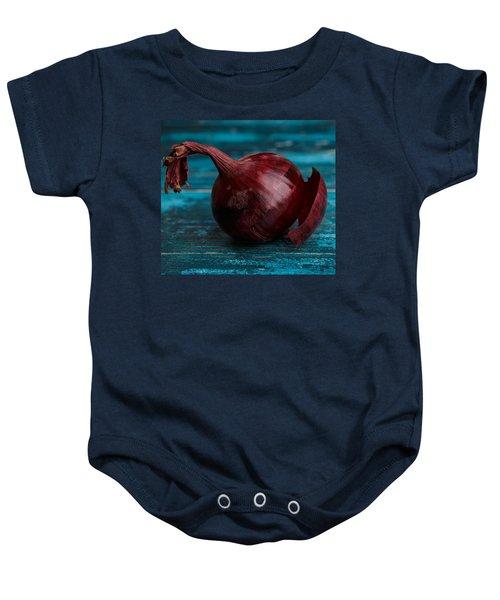 Red Onions Baby Onesie by Nailia Schwarz