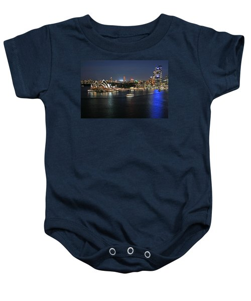 Sydney Harbor At Circular Quay Baby Onesie by Ellen Henneke