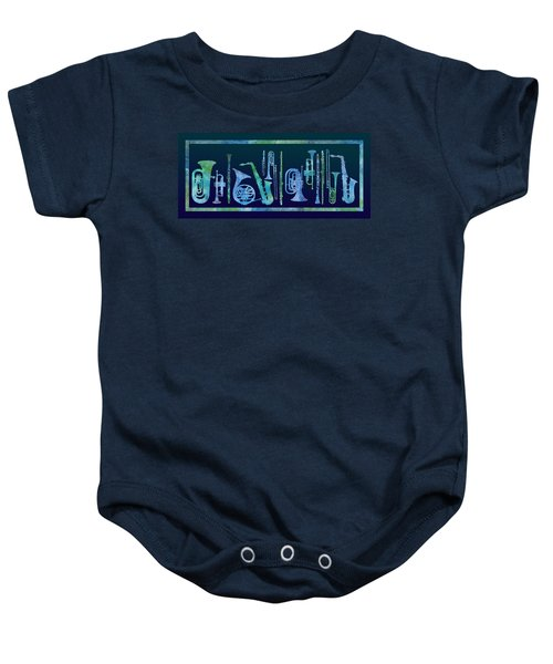 Cool Blue Band Baby Onesie by Jenny Armitage