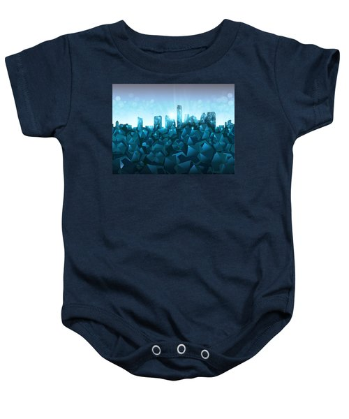 Austin Skyline Geometry 3 Baby Onesie by Bekim Art