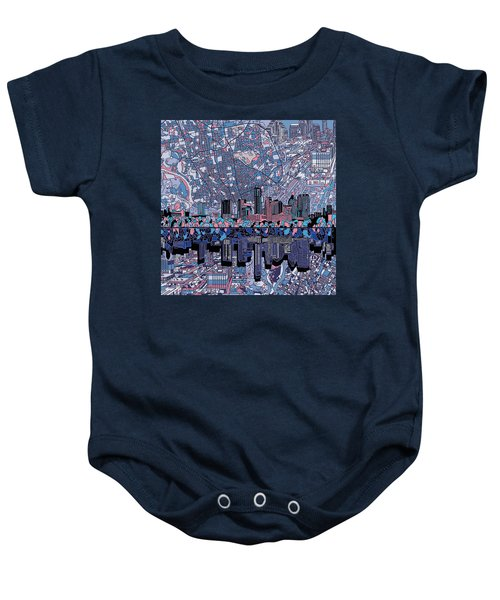 Austin Texas Skyline 3 Baby Onesie by Bekim Art