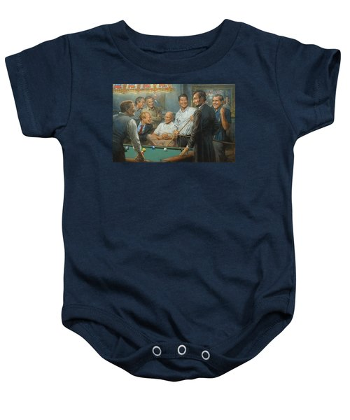 Callin The Blue Baby Onesie by Andy Thomas