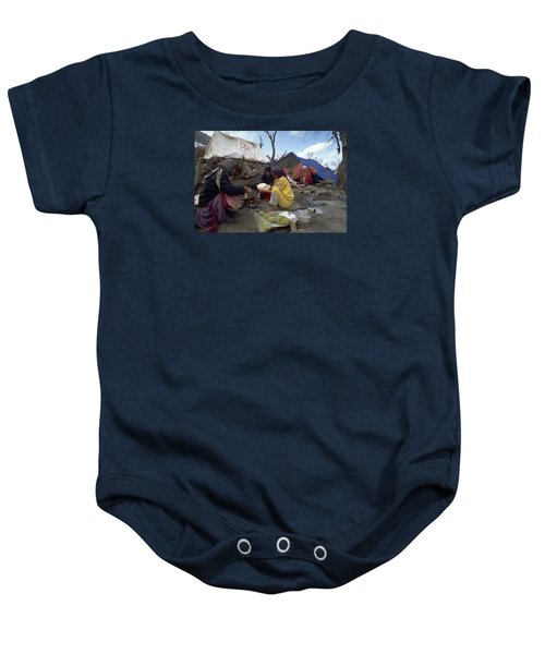 Baby Onesie featuring the photograph Camping In Iraq by Travel Pics
