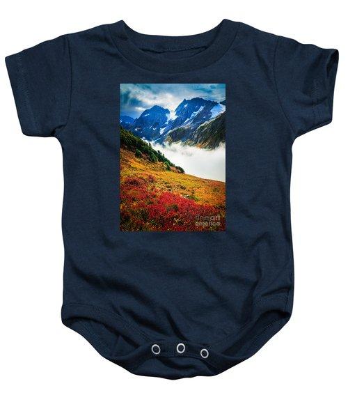 Cascade Pass Peaks Baby Onesie by Inge Johnsson