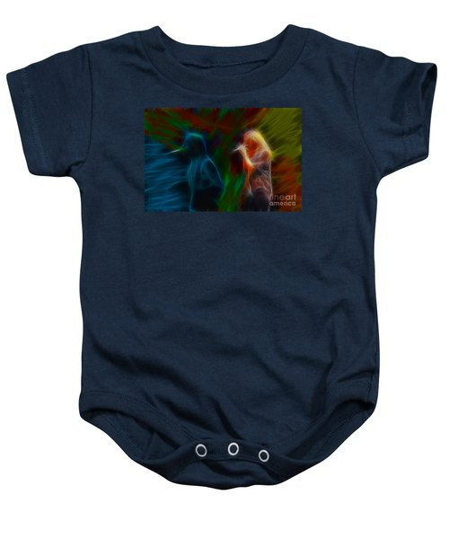 Def Leppard-adrenalize-jor-gb20--fractal Baby Onesie by Gary Gingrich Galleries
