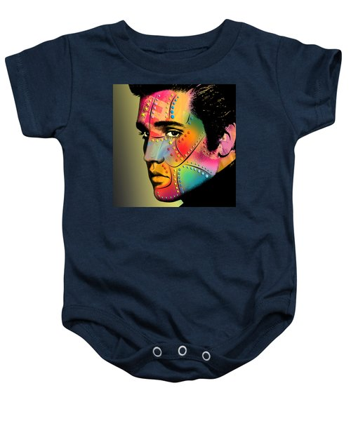 Elvis Presley Baby Onesie by Mark Ashkenazi
