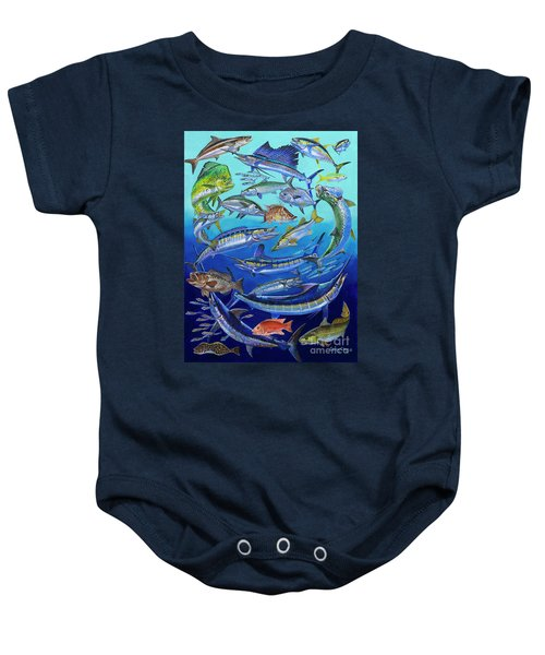 Gamefish Collage In0031 Baby Onesie by Carey Chen