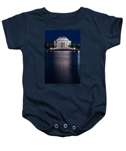 Jefferson Memorial Washington D C Baby Onesie by Steve Gadomski