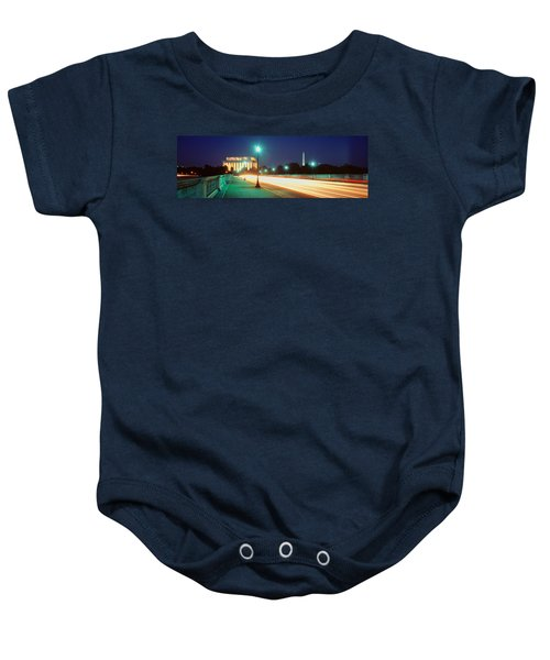 Night, Lincoln Memorial, District Of Baby Onesie by Panoramic Images