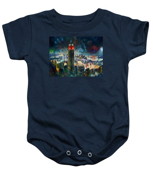 Nyc In Fourth Of July Independence Day Baby Onesie by Ylli Haruni