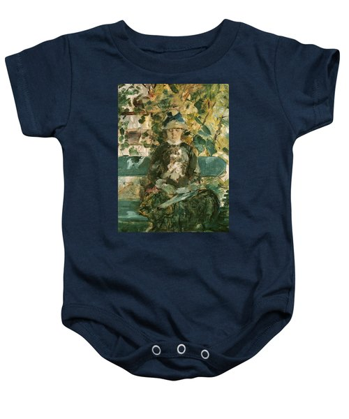 Portrait Of Adele Tapie De Celeyran Baby Onesie by Henri de Toulouse-Lautrec