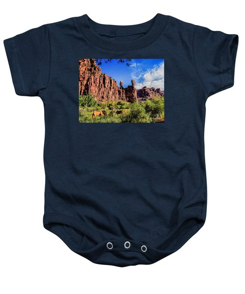 Private Home Canyon Dechelly Baby Onesie by Bob and Nadine Johnston