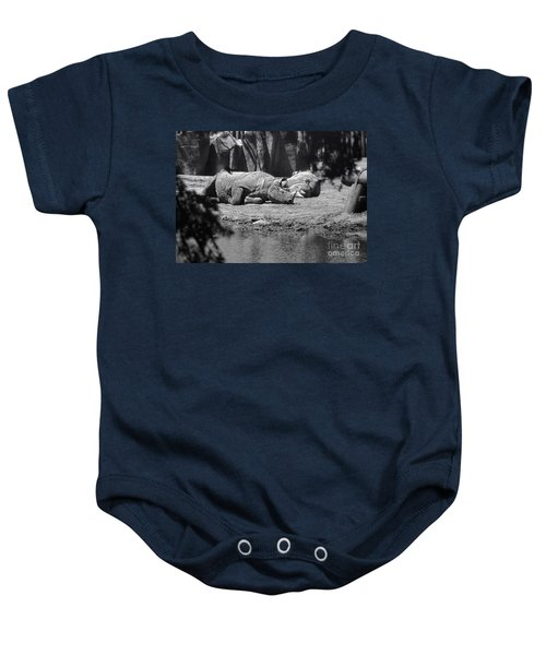 Rhino Nap Time Baby Onesie by Thomas Woolworth