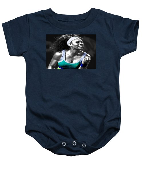 Serena Williams Ace Baby Onesie by Brian Reaves