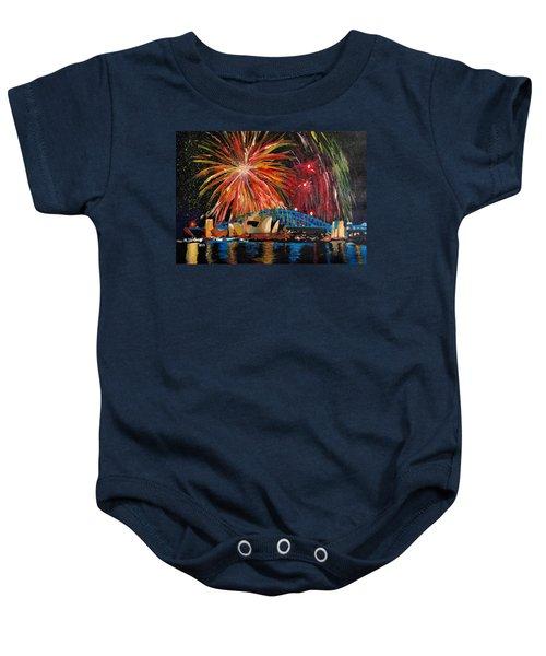 Sydney Silvester Fireworks At New Year Baby Onesie by M Bleichner