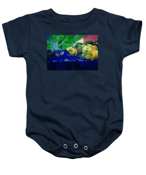 Tropical Fruit Baby Onesie by Lincoln Seligman