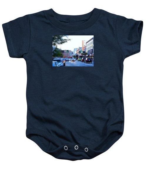 125th Street Harlem Nyc Baby Onesie by Ed Weidman