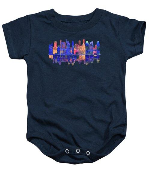 New York Skyline Baby Onesie by John Groves
