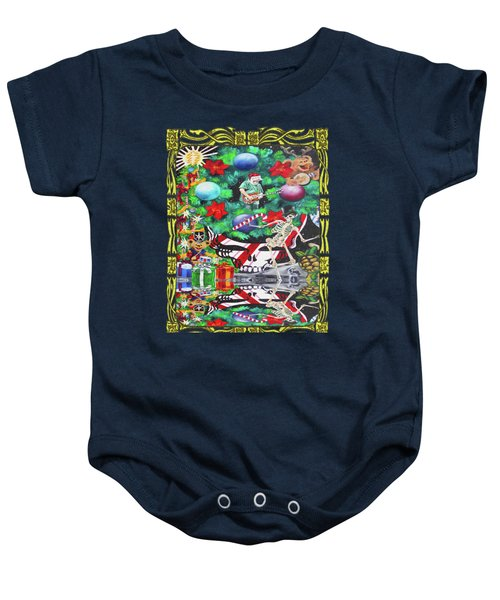 Christmas On The Moon Baby Onesie by Kevin J Cooper Artwork