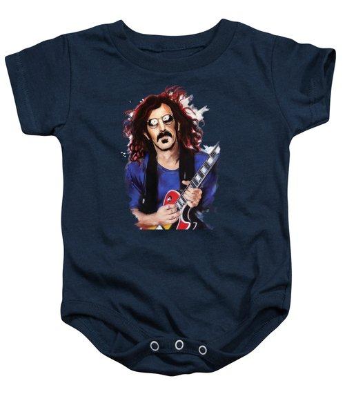 Frank Zappa Baby Onesie by Melanie D