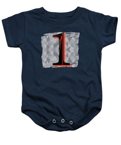 Number 1 One Baby Onesie by Liesl Marelli