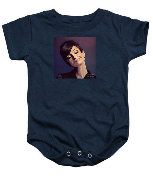 Audrey Hepburn Painting Baby Onesie by Paul Meijering