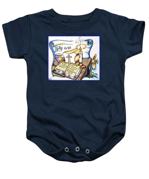 Bread Of Life Baby Onesie by Duane Bemis