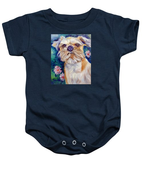 Brussels Griffon Baby Onesie by Lyn Cook