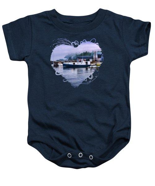 Door County Gills Rock Fishing Village Baby Onesie by Christopher Arndt