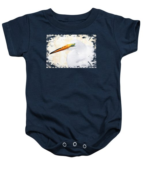 Egret Thoughts Signature Series Baby Onesie by Di Designs