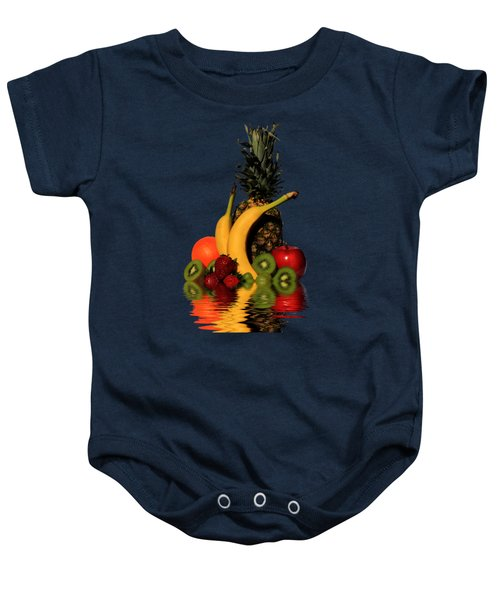 Fruity Reflections - Dark Baby Onesie by Shane Bechler