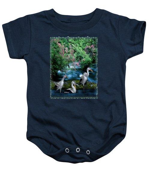 Grey Heron Point Baby Onesie by Sharon and Renee Lozen