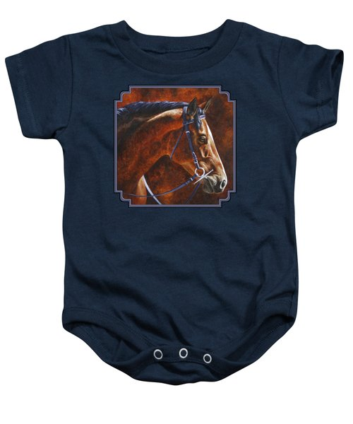 Horse Painting - Ziggy Baby Onesie by Crista Forest