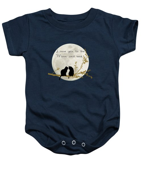 Love You To The Moon And Back Baby Onesie by Linda Lees