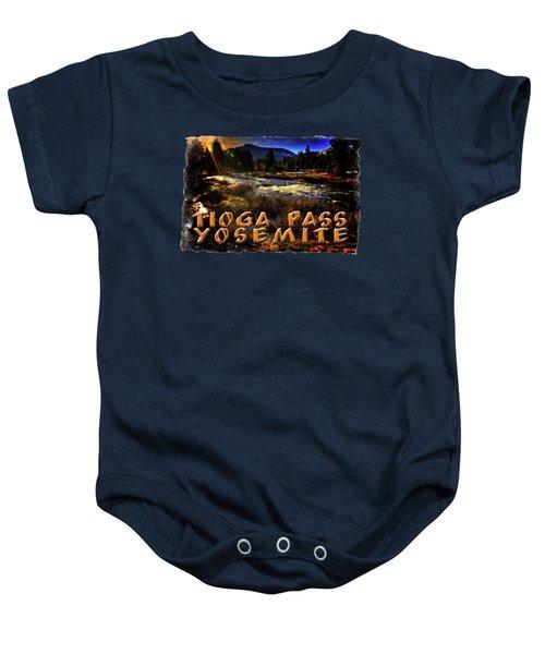 Mine Creek Between Lakes Ellery And Tioga Baby Onesie by Roger Passman