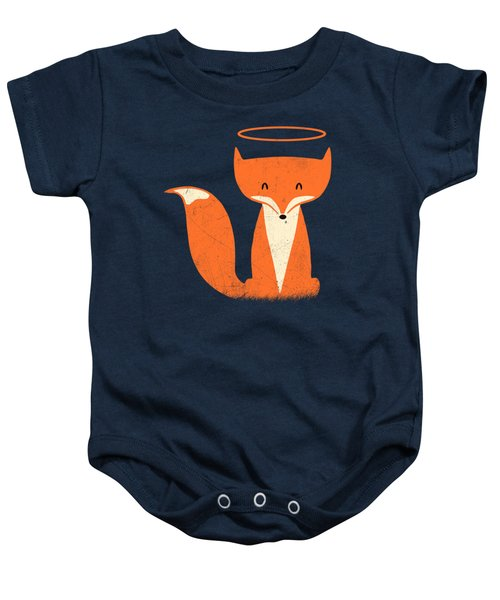 Red Tabby Baby Fox Baby Onesie by Illustratorial Pulse