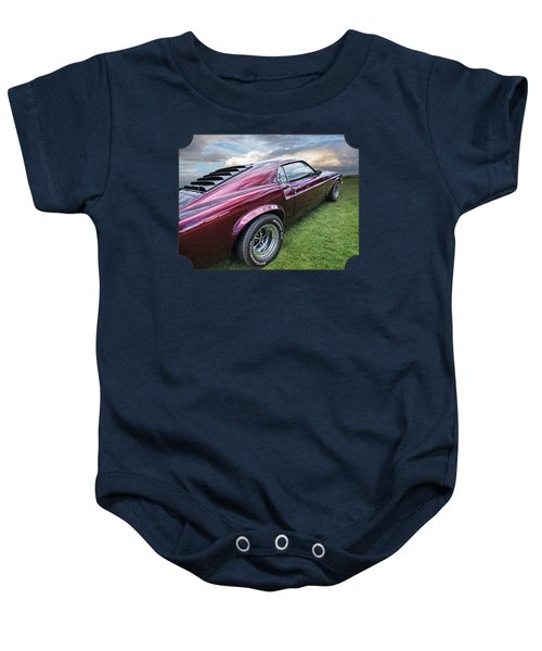 Rich Cherry - '69 Mustang Baby Onesie by Gill Billington