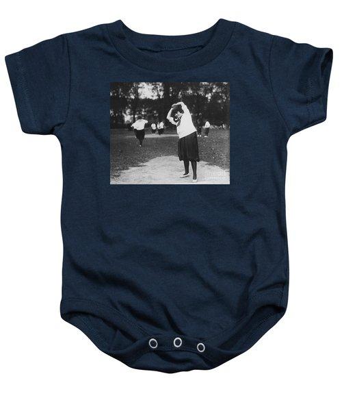 Softball Game Baby Onesie by Granger