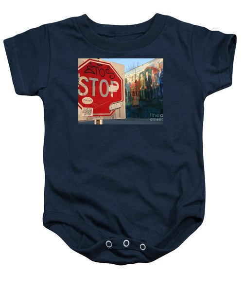 Street Art Washington D.c.  Baby Onesie by Clay Cofer