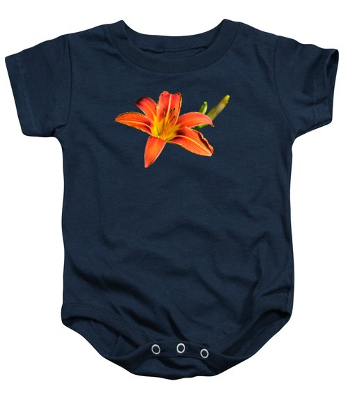 Tiger Lily Baby Onesie by Christina Rollo