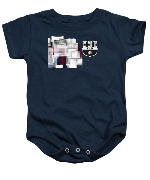 Tribute To Fc Barcelona 7 Baby Onesie by Alberto RuiZ
