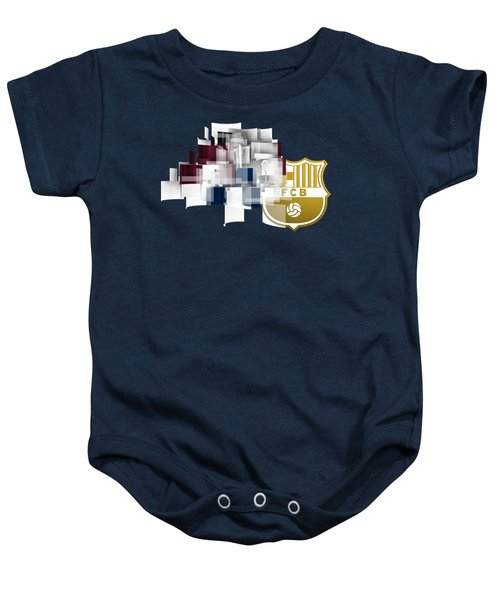 Tribute To Fc Barcelona 6 Baby Onesie by Alberto RuiZ