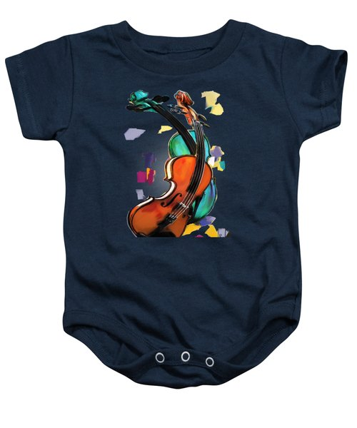 Violins Baby Onesie by Melanie D