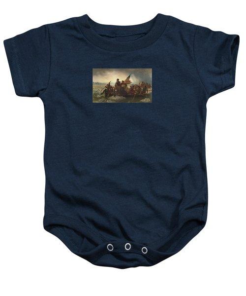 Washington Crossing The Delaware Painting  Baby Onesie by Emanuel Gottlieb Leutze