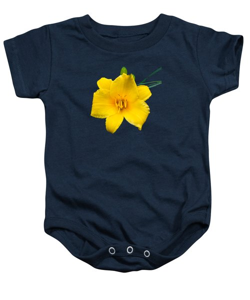 Yellow Daylily Flower Baby Onesie by Christina Rollo