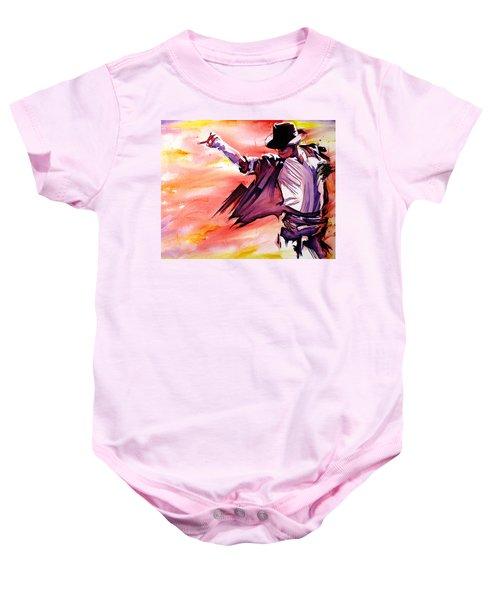Michael Jackson-billie Jean Baby Onesie by Joshua Morton