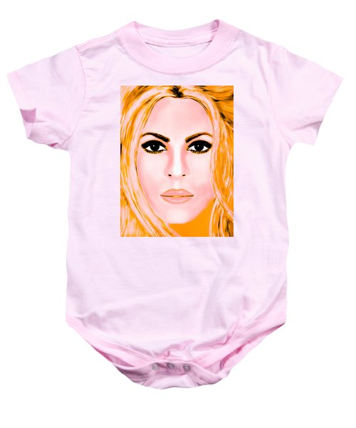 Gold Shakira Baby Onesie by Mathieu Lalonde