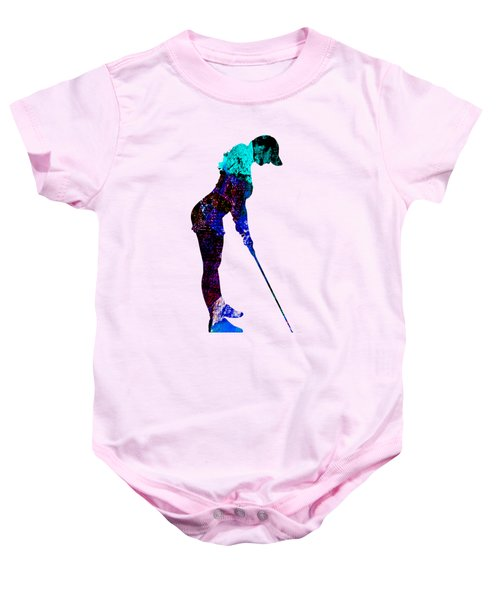 Womens Golf Collection Baby Onesie by Marvin Blaine